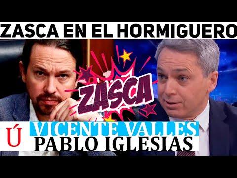 El tremendo zasca de Vicente Vallés a Pablo Iglesias en El Hormiguero de Pablo Motos en Antena 3