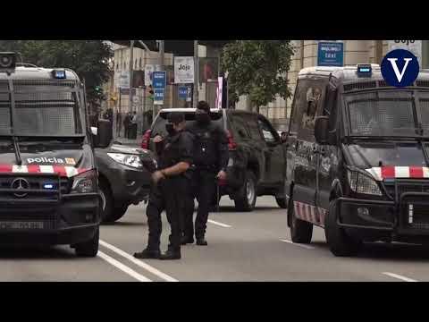 Protestas sin incidentes en Barcelona ante la presencia del Rey