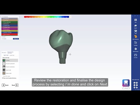 How to design a custom abutment and a cemented crown in Planmeca PlanCAD® Premium