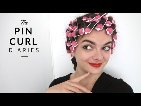 The Brush Out From Hell (Trying Rollers) | The Pin Curl Diaries
