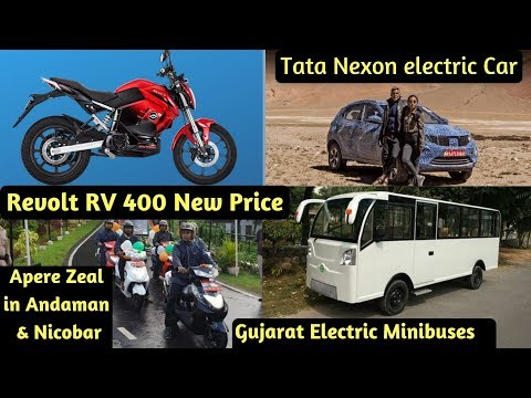 Electric Vehicles News 33: Revolt RV 400 One Time Payment, Electric MiniBus, Tata Nexon electric Car