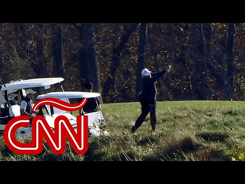 Trump jugaba golf mientras declaraban a Biden ganador de la elección en EE.UU.