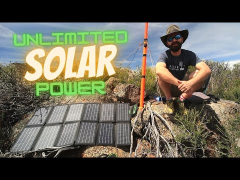 Off-grid Solar Charging on a SOTA Adventure