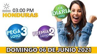 Sorteo 03 PM Loto Honduras, La Diaria, Pega 3, Premia 2, lunes 07 de junio 2021   ? ???? ????????