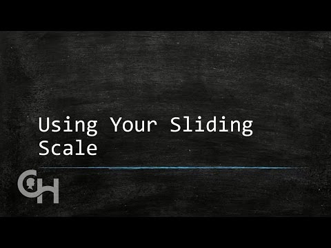 Using Sliding Scale to Determine Insulin Dose