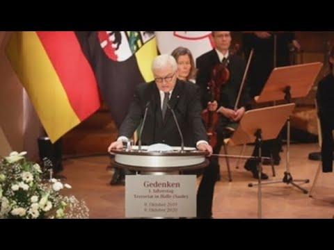 Presidente alemán lamenta la sangre vertida por la ultraderecha