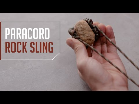 DIY Paracord Rock Sling