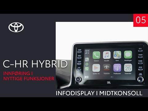 Toyota C-HR Hybrid 2020 - Infodisplay i midtkonsoll (5 av 10) - Innføring i nyttige funksjoner