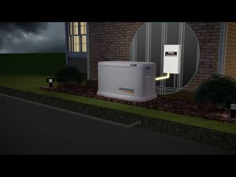 Generac Guardian Series Air-Cooled Standby Generator - 20 kW (LP)/18 kW (NG), Model# 7038