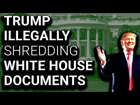 Staff Taping Together Docs Illegally Destroyed by Trump