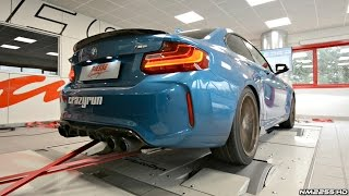 BMW M2 F87 with Akrapovic Exhaust System LOUD Sounds on the Dyno!