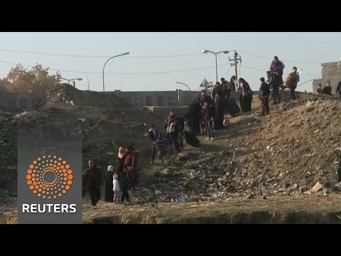 Iraqis flee recaptured areas in eastern Mosul