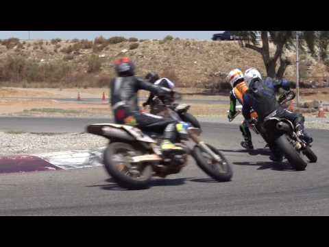 Learning The Art of Sliding at Supermoto School