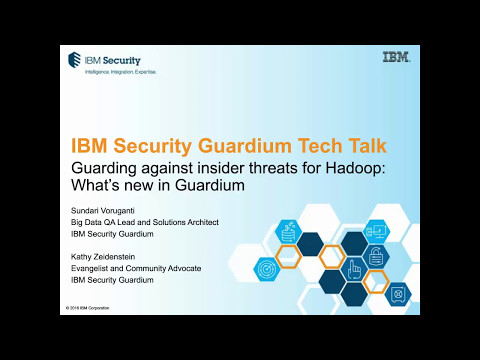 Tech Talk: What's new in Guardium v10 for Hadoop (1 of 3)