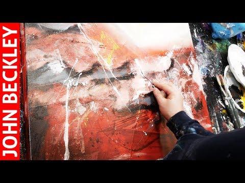 Peinture Abstraite - Démonstration Art Abstrait À l'Acrylique | Vulcain
