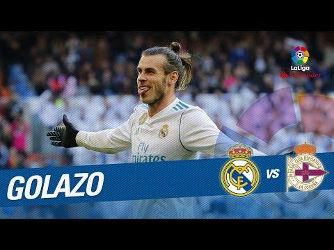 Golazo de   Bale (2-1) Real Madrid vs RC Deportivo
