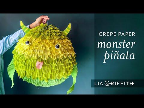 Crepe Paper Monster Piñata