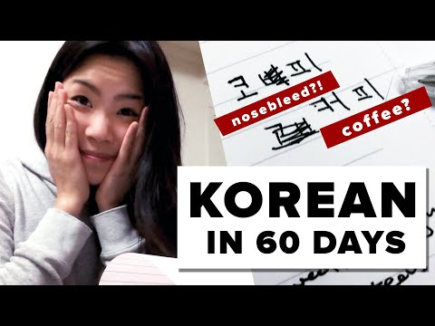 I Tried To Learn Korean In 60 Days