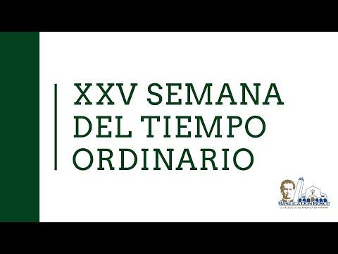 Misa vespertina - Martes de la semana XXV del Tiempo Ordinario