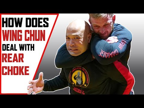 How does Wing Chun deal with Rear Choke | Wing Chun Master Wong