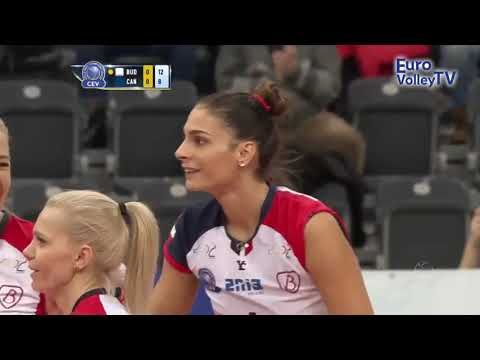 Powerful spike by Brakocevic-Canzian in #CLVolleyW!