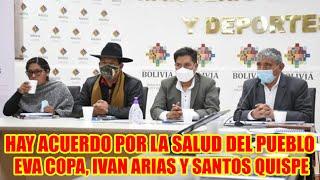 MINISTRO DE SALUD SE REUNIÓ CON ALCALDES EVA COPA Y IVAN ARIAS Y CON EL GOBERNADOR SANTOS QUISPE.