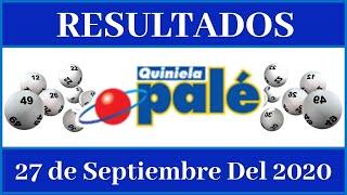 Resultados de la loteria Quiniela Pale de hoy 27 de Septiembre del 2020