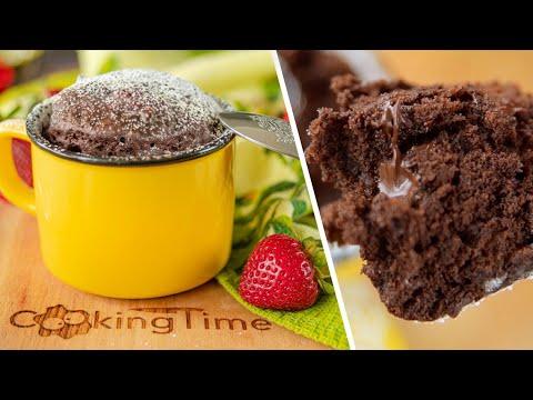 КЕКС В КРУЖКЕ за минуту без духовки!   простой и вкусный шоколадный десерт без яиц