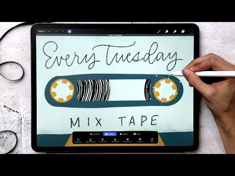 Animate a Mix Tape in Procreate 5!