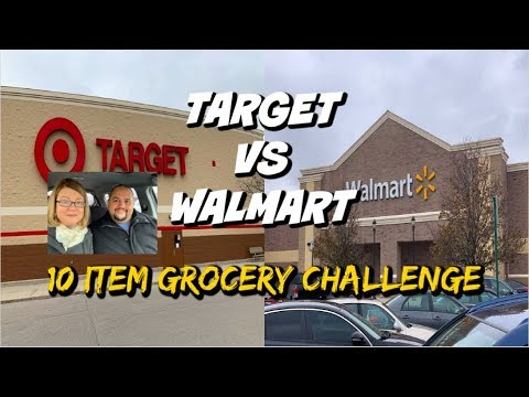 TARGET VS WALMART | 10 ITEM GROCERY HAUL CHALLENGE! WHICK STORE IS A BETTER VALUE?