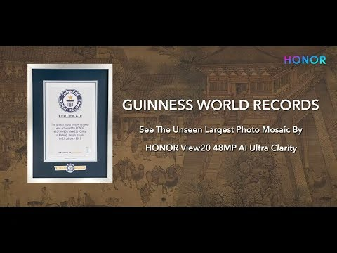 HONOR View20: GUINNESS WORLD RECORDS