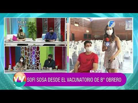 Sofi Sosa desde el vacunatorio del Fomento de Barrio Obrero.