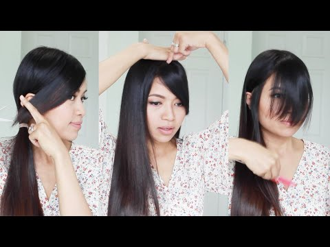 The Best Hair Hack ♥ How to Cut Side Swept Bangs at Home