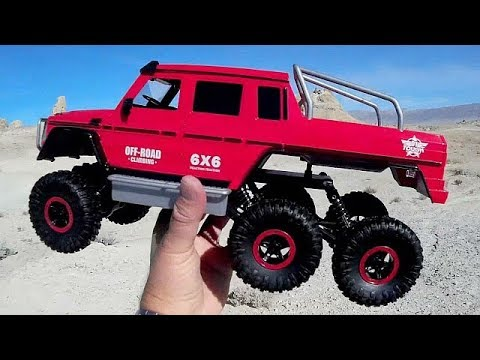 Flytec 6WD Bigfoot RC Rock Crawler Test Drive Review