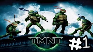 Let's Play TMNT The Movie Game 2007 Walkthrough Part 1 [No Commentary] (HD)
