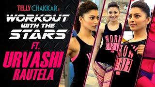 Workout with the stars | Urvashi Rautella shares her workout regime | Checkout Video | TellyChakkar - TELLYCHAKKAR