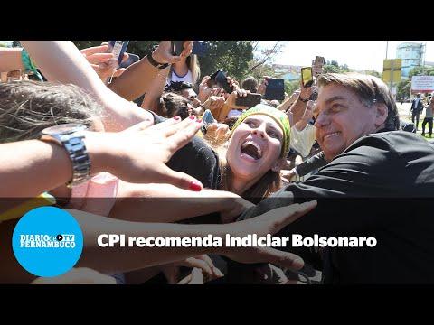 CPI aprova relatório que pede indiciamento de Bolsonaro