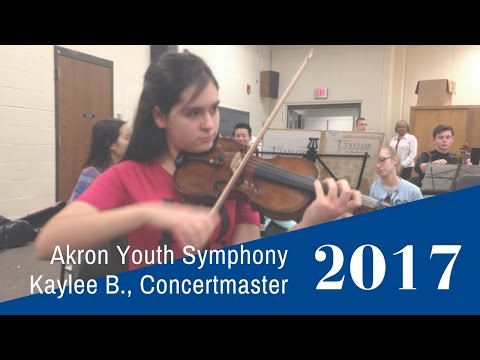 Akron Youth Symphony Concertmaster Kaylee B.