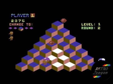 Q*Bert para Commodore 64 - Review de RETROJuegos por Fabio Didone