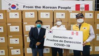 Gobierno coreano realiza donación de 50 mil pruebas rápidas al Ministerio de Salud
