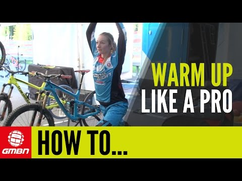 How To Warm Up Like A Pro ? With Tahn�e Seagrave | Mountain Bike Racing