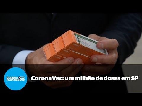 Um milhão de doses da CoronaVac chegam em São Paulo