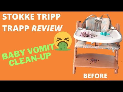 MUST WATCH REVIEW REAL VOMIT ON STOKKE TRIPP TRAPP