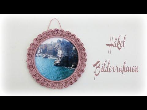 Bilderrahmen häkeln * DIY * Crochet picture frame [eng sub]