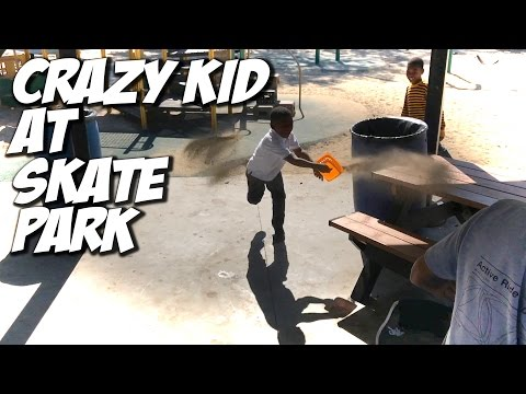 CRAZY KID AT SKATEPARK !!! - A DAY WITH NKA