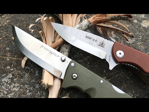TOPS MSF 4.0 VS. Cold Steel FinnWolf: Scandi Folder Showdown