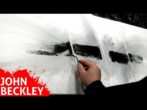 Abstract Painting Acrylics with palette knife | Satisfying | icniV aD