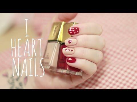 Easy Nail Art Tutorial | Beginners (Hearts & Polkadots)