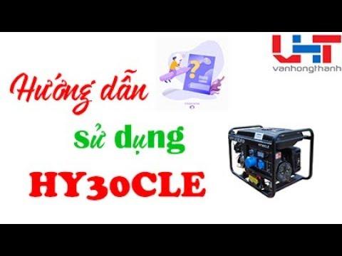 Hướng dẫn sử dụng máy phát điện HY 30CLE