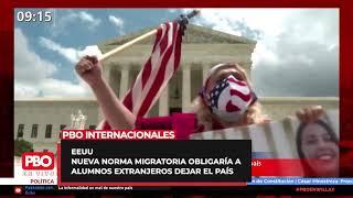 ¡ATENCIÓN! ???? Nueva norma migratoria forzaría a alumnos extranjeros con clases en línea a dejar EEUU